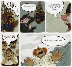 Viñeta de El mono de Hartlepool